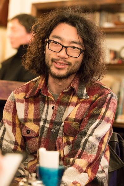cb&voの園田空也さん。メンバーからの印象は、「メンバーの中で一番、世界はなんて素晴らしいんだろう!と思っている人(笑)」(権頭さん)