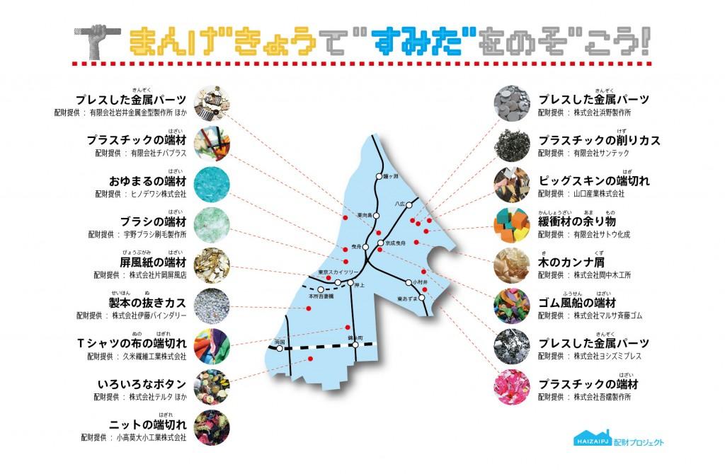 廃材の取れる場所を記した地図