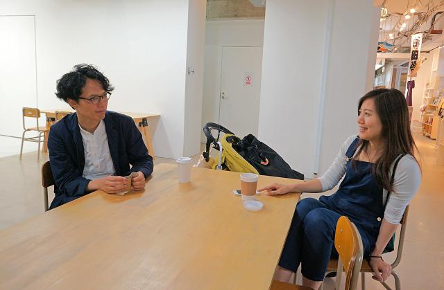 アーツ千代田3331でのインタビュー風景。お忙しい中お時間をいただきました