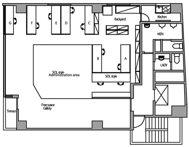 place #001の平面図。現在の募集定員はお問い合わせください