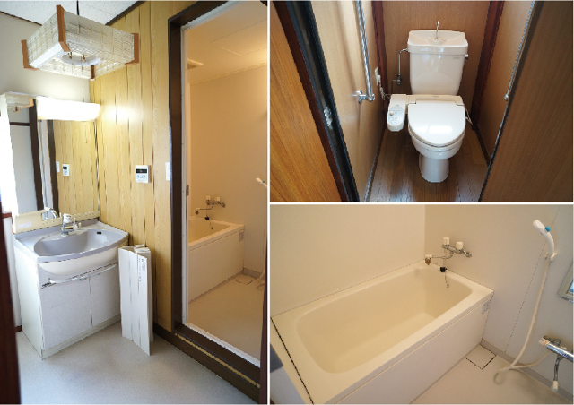 気になるトイレは洋式、お風呂のバスタブもリニューアルされているようです。