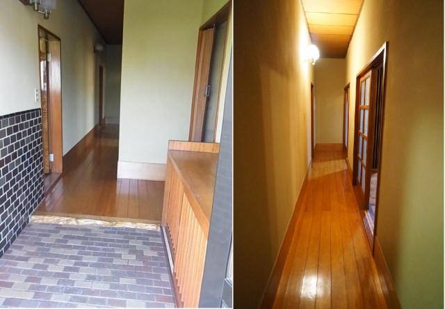 左:玄関 右:廊下